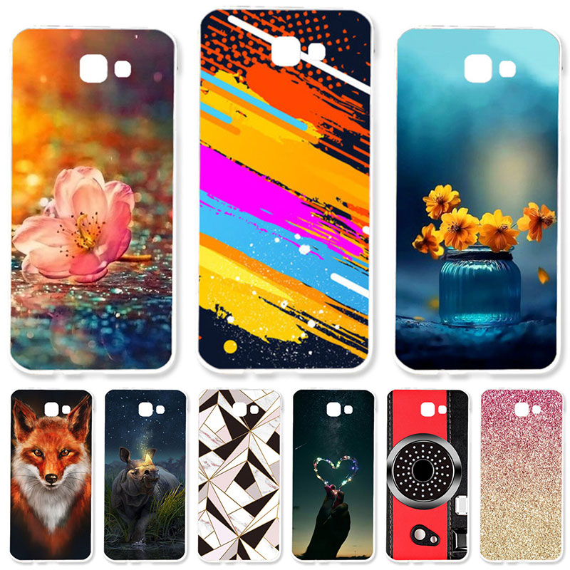 TAOYUNXI Soft TPU Case for Samsung Galaxy J5 Prime On5 2016 G570 G570F / DS G570Y G570M G570F G570F / DS G5700 DIY ներկված ծածկոցներ