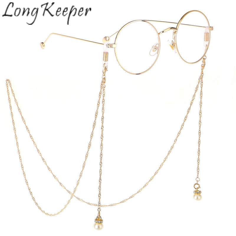 b04b5e707dc Long Keeper Glasses Chain Men Women Eyewear Cord Holder Accessories Metal  Sunglasses Necklace Eyeglass Lanyard Strap