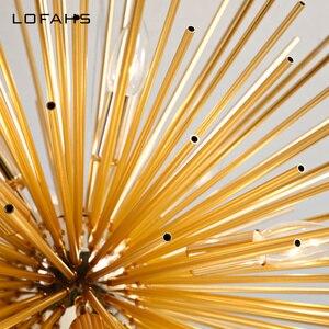 Image 5 - Lofahs Moderne Welvaart Hanger Kroonluchter Gouden Aluminium Buis Kroonluchter Verlichting Voor Woonkamer Zakelijke Gelegenheid