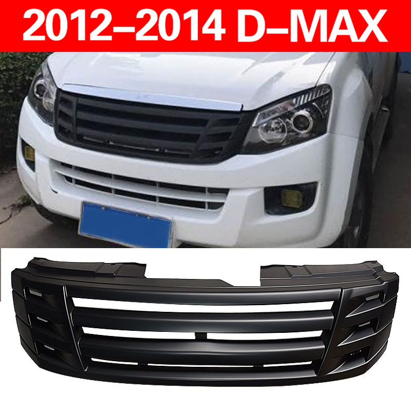 OME DESIGN MATTE BLACK front Racing grill grille ABS trims Replacement Grills Raptor fit for ISUZU D-MAX DMAX 2012-2015