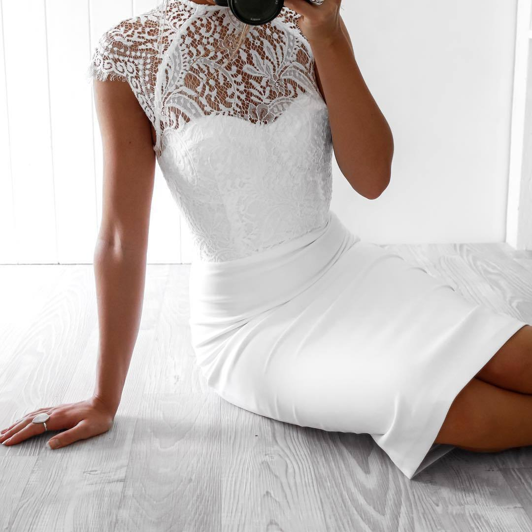 Zara shop black bodycon dress knee length wedding dress