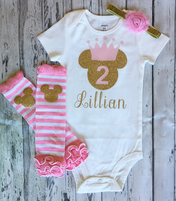 Customize name Minnies mouse first birthday bodysuit onepiece Tutu shirt legwarmers  toodles Outfit baby shower party favors-in Party Favors from Home ... 7df9e9dd6e20