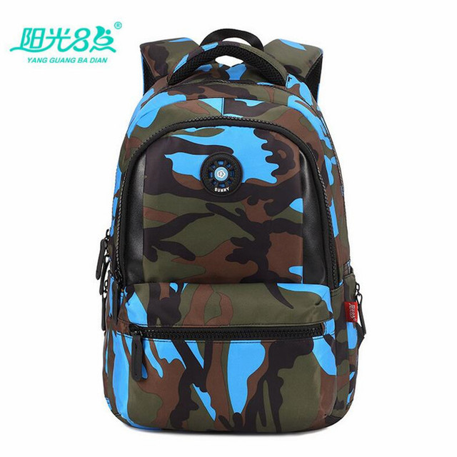 Primary Students Backpack School Bags Camo Kids Satchel Boys S Book Bag