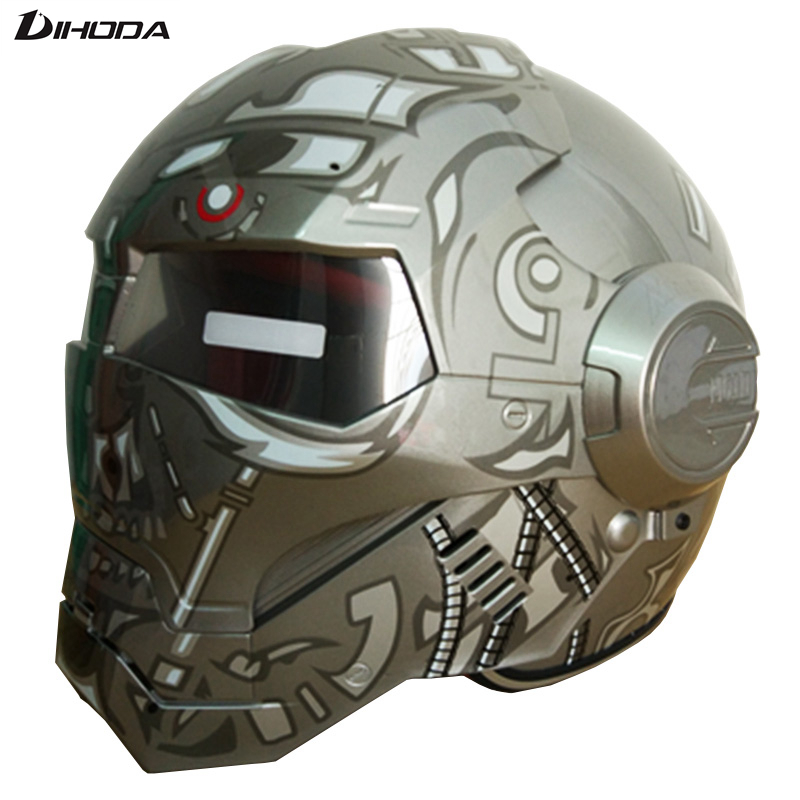 Masei ABS Terminator Gray Mens Womens IRONMAN Iron Man Helmet Motorcycle Helmet Half Helmet Open Face