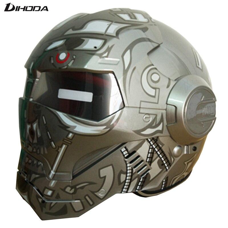 Masei ABS Terminator gris hommes femmes IRONMAN fer homme casque moto casque demi casque visage ouvert casque