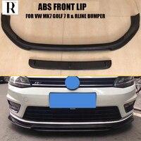 МК 7 ABS черный бампер передний губ Чин спойлер для VW МК 7 Гольф 7 R & Rline бампер только 2014 201 7 (не может поместиться GTI и нормальный Гольф 7)