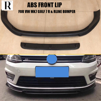 MK7 ABS Black Front Bumper LiP Chin Spoiler for Volkswagon MK7 Golf 7 R & Rline Bumper Only 2014 2017