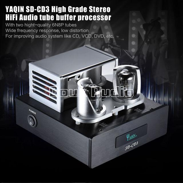YAQIN SD-CD3 6N8P Tube Amplifier Preamp Signal Upgrade Hi-end Buffer Audio Processor For CD Player HI-FI