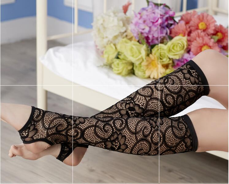 Winter Women Leg Warmer Stretch Lace Boot Cuffs Trim Flower Design Boot Gaiter Boot Cover stocking
