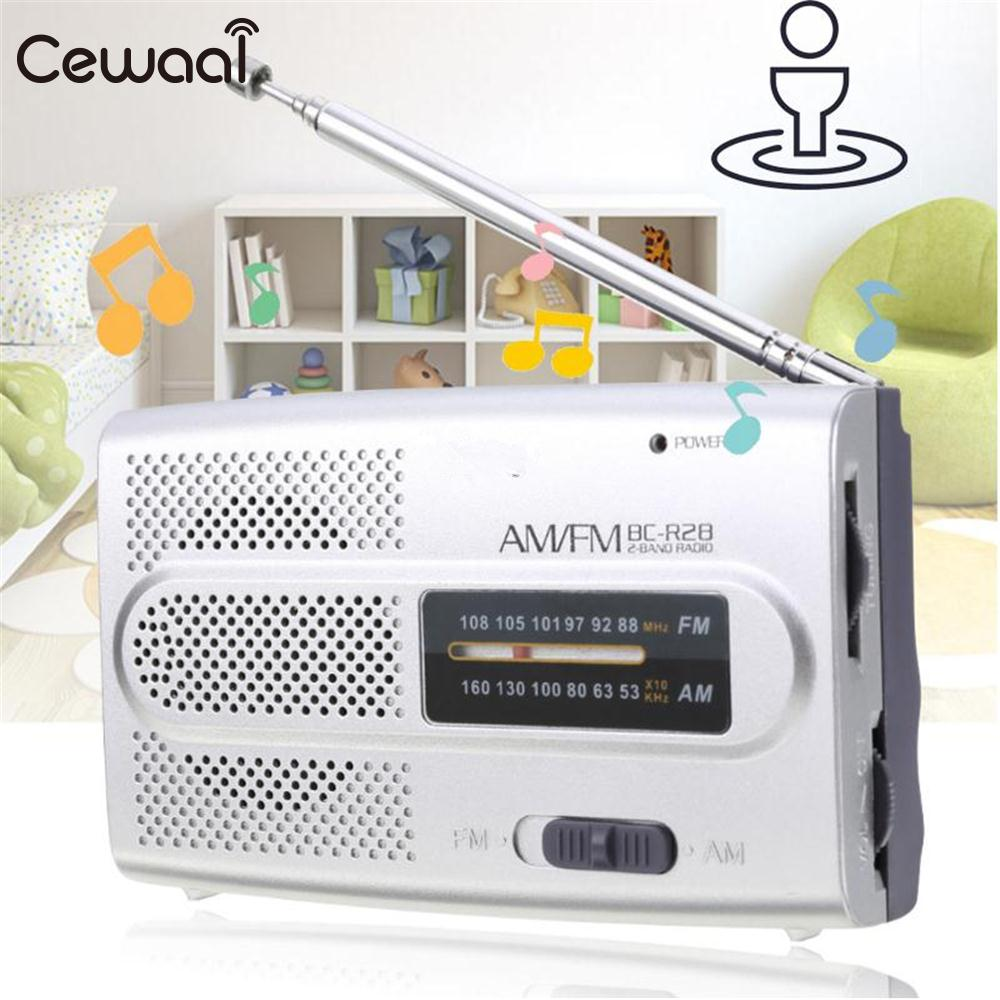 Radio Cewaal Mini Tasche Stereo Bc-r28 Radio Dünne Am Fm Teleskopantenne Receiver Musik Lautsprecher Geschenk Unterhaltungselektronik