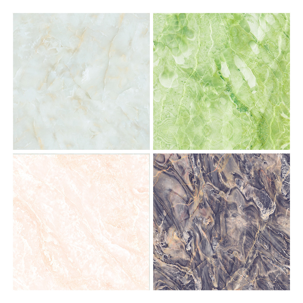 Marble Design Imitation <font><b>Ceramic</b></font> Tile Floor Wall Sticker Living Room Kitchen Bathroom Imitate Tile Floorboards Wall Stickers