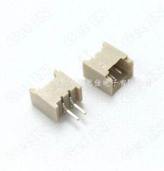 4000pcs   1.25MM -2P Straight 2Pins Terminal Connectors Plug 180Degree 2p*1.25mm Vertical Type Sockets