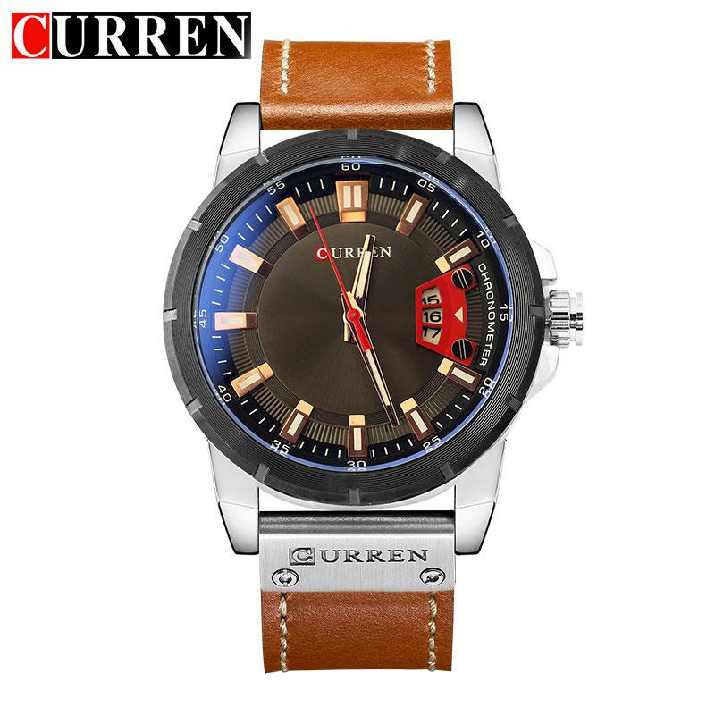 CURREN Watch Men Brand Luxury Military Quartz Wristwatch Fashion Casual Sport Male Clock Leather Watches Relogio Masculino 8284