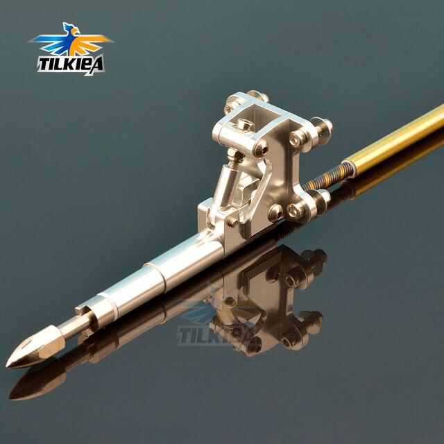 Левый/правый гибкий кабель 6,35 мм, опора из нержавеющей стали, вал привода для собаки, опора из латуни, пластиковая трубка, кронштейн для радиоуправляемой лодки