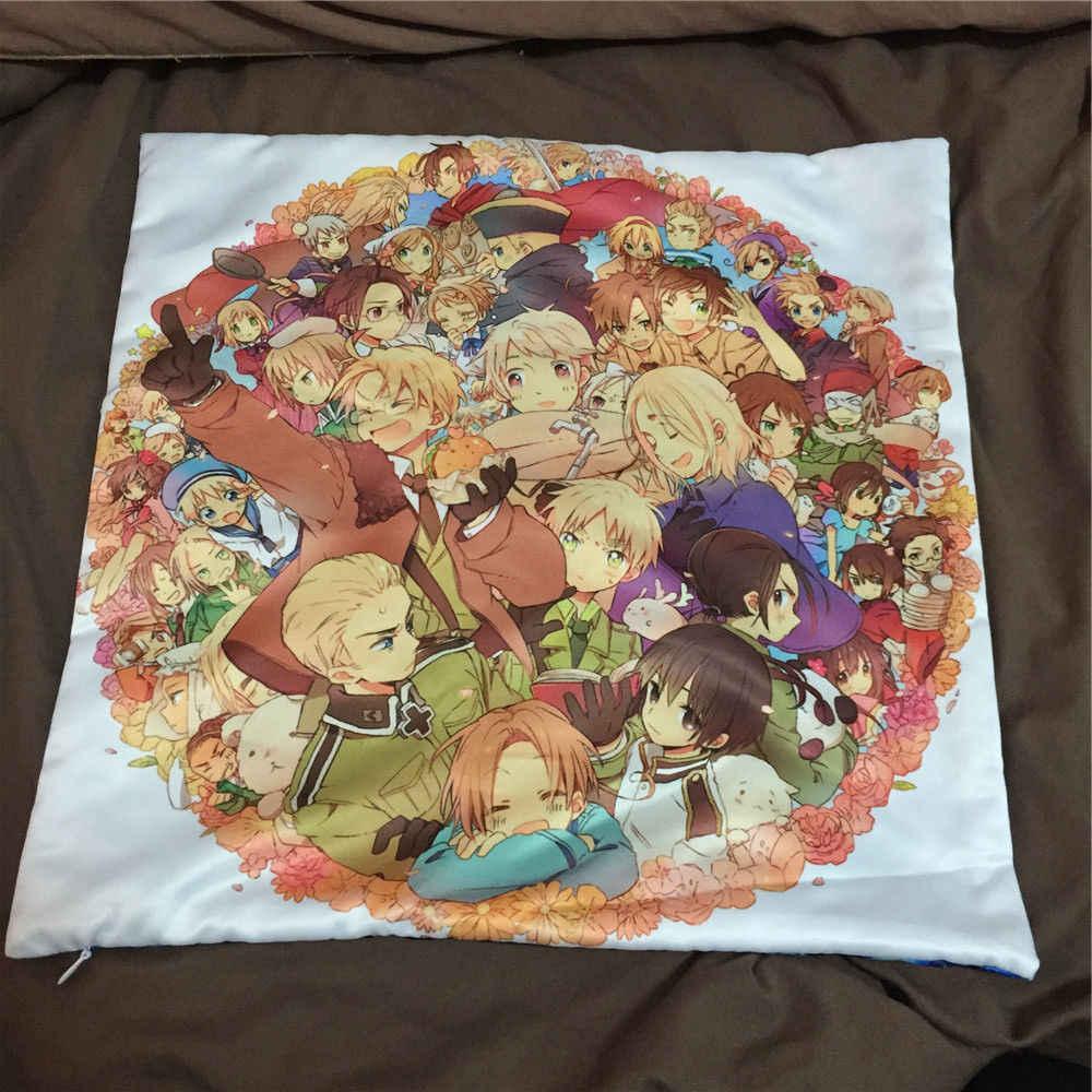 Axis Power Hetalia Aph Anime dos fundas de almohada abrazadas funda de almohada cojín Otaku Cosplay regalo nuevo 004