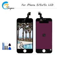 ET Super 1 PCS For Iphone 5 5C 5S LCD Display Complete Touch Screen Digitizer No