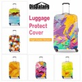 Pinceladas Pintura Colorida À Prova D' Água Bagagem Cobre elástico bagagem tampa protetora contra poeira para 18-30 polegada de acessórios de viagem