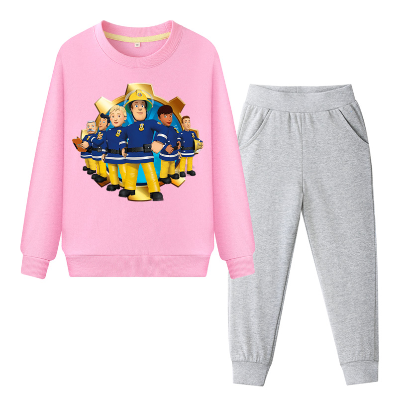 Popular Brand Boy Autumn Outdoor Sports Tracksuits Girls Cotton Clothing Sets Kids Child 2019 Clothes Set Fireman Sam Print Costume Suit Zc077 Clothing Sets Back To Search Resultsmother & Kids