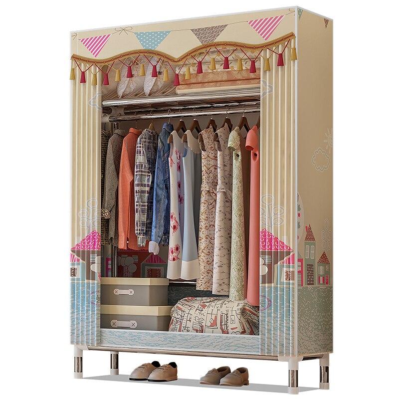 Casier Simple de garde-robe de stockage non-tissé, garde-robe de tissu de stockage d'habillement de meubles à la maison imperméables et antipoussière
