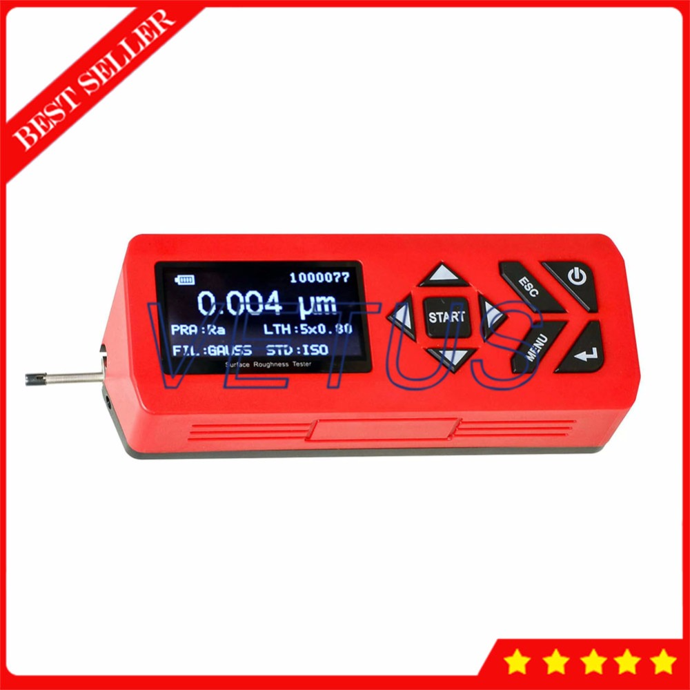 SH-180 Portable Surface Roughness Tester with Surftest Profilometer Gauge Measure Instrument Ra Rq Rz R3z Ry Rt Rp Rm Parameters недорго, оригинальная цена