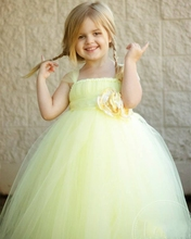 Детская одежда, Лето, новый Европейская версия Девушки одежда платье Принцессы Пачки Ручной пользовательский Марлевые Сетки Костюм