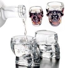 New Creative Cup Crystal Skull Vodka Wine Bottle Beer Pirates Glass Whiskey Spirits Vaso Bar Home