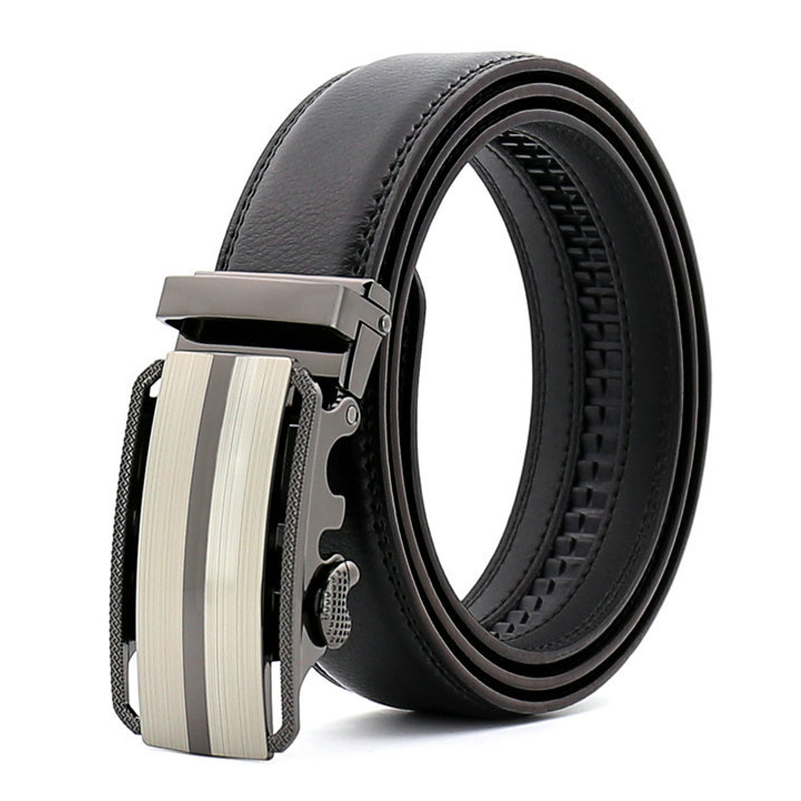 Genuine Leather Belt for Men High Quality with Automatic Buckle 2019 Fashion Black Brown Mens Long Belts Luxury Male Big Belt