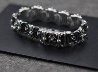Hurtownie 925 sterling silver biżuteria importowana z Tajlandii władcze Krzyżowiec kwiat bransoletka dla mężczyzn 048512 w