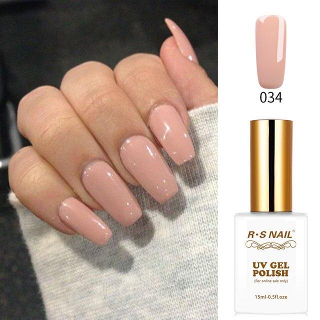 RS Nail nude gel polish uv gel esmalte permanente manicure gel polish uv gel  nail design - RS Nail Nude Gel Polish Uv Gel Esmalte Permanente Manicure Gel