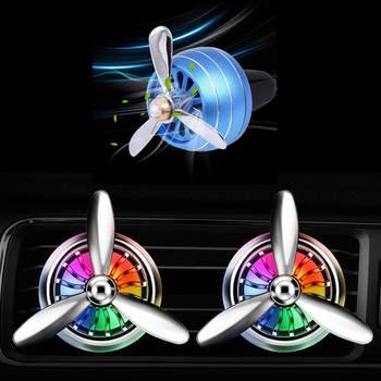 Car LED Perfume Air Freshener Vent Outlet Clip For Ford Focus 2 3 Fiesta Mondeo Kuga Citroen C4 C5 C3 Skoda Octavia Rapid Fabia image