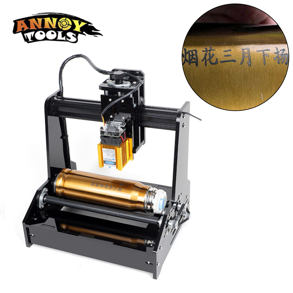 DIY 15000mw 15w laser engraving machine can cylindrical engraver Full Assembled Delivery engraving on cylindrical on metal