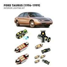 Led interior lights For Ford taurus 1996-1999  17pc Led Lights For Cars lighting kit automotive bulbs Canbus 2 штук набор заднего стекла лифта поддерживает 1996 2006 меркурий сейбл ford taurus станции