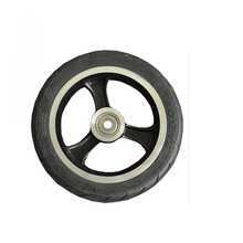 Factory 5.5 inch scooter PU Wheel&Tire for Wheelchair Rear Wheel with black wheels factory high quality original