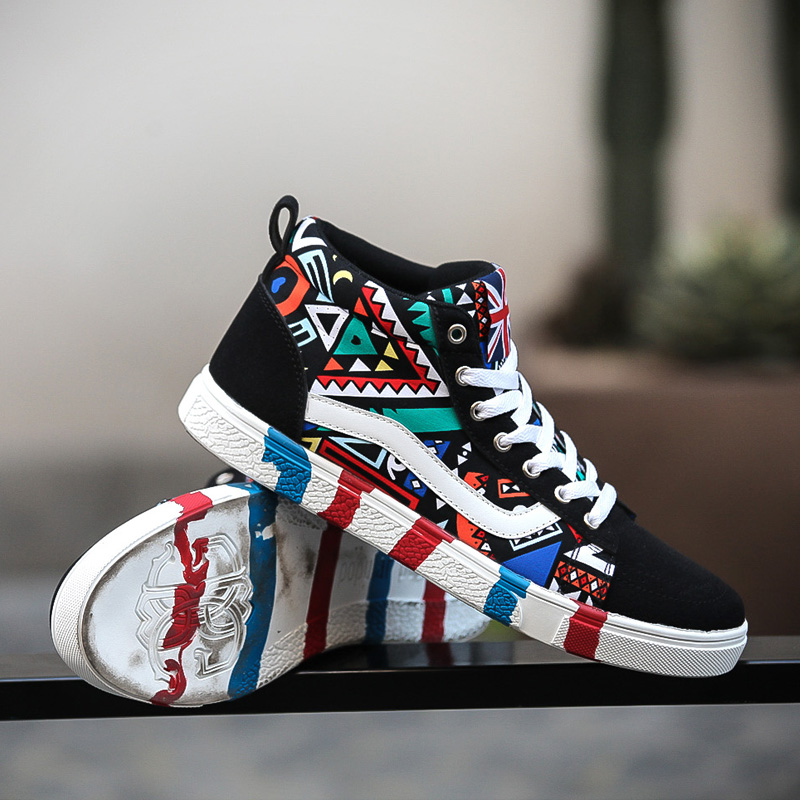 2016 High Top Men And Women Casual Shoes Men Canvas Shoes Comfortable Breathable Solid Flat Spring