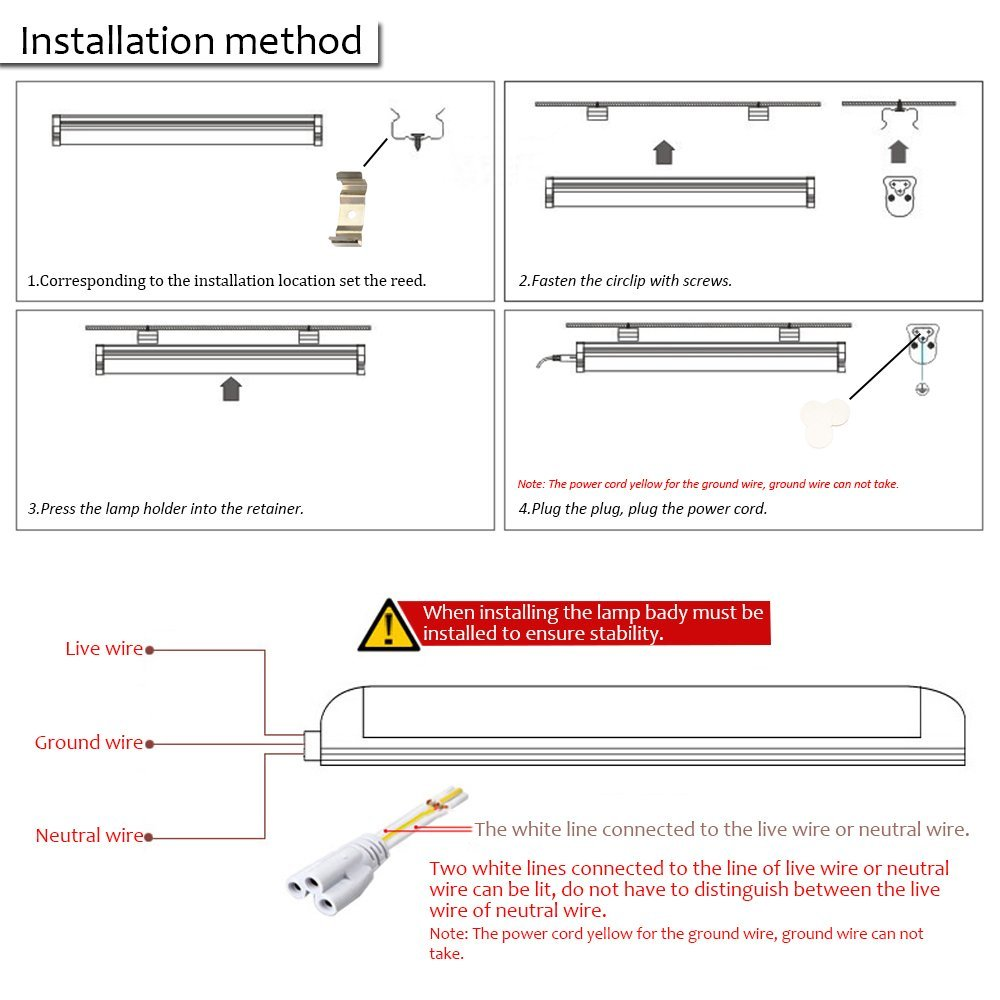 hight resolution of  com buy 4ft 5ft 6ft 8ft led tube light v shape integrated led tubes cooler door freezer led lighting plug and play integrated led light wiring diagram