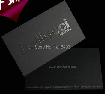 custom 700 gsm matte black cardboard paper tag with black Spot UV Logo/customize clothing hang tag/garment paper tags card