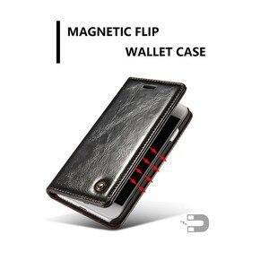 Image 5 - Funda de cuero con tapa para iPhone 5, 5S, SE, 6, 7, 8 Plus, billetera magnética para tarjetas, 11 Pro, Max, X, XR, XS, Max