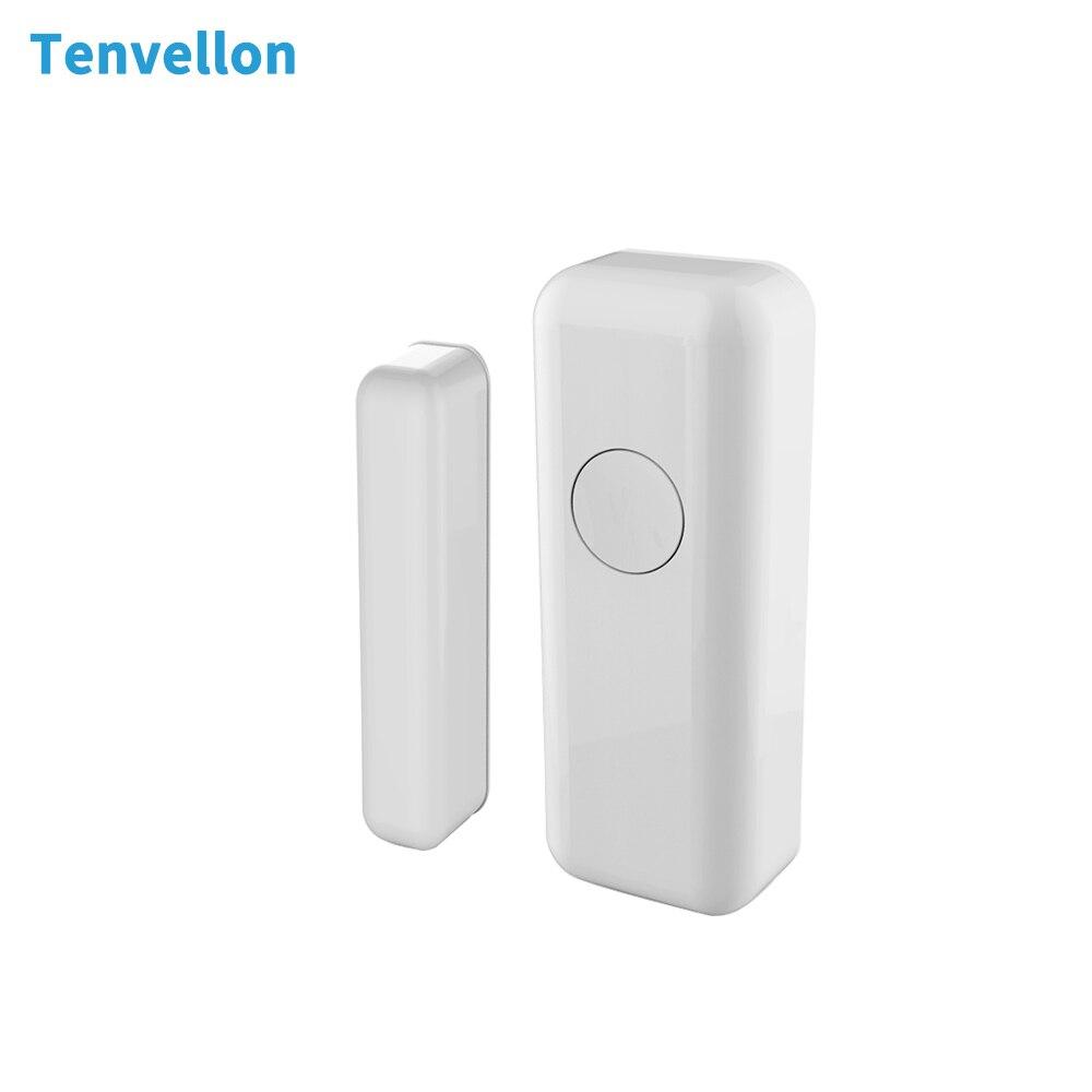 Tenvellon 433MHz Alarm Sensors Wireless Window Door Magnetic Sensor Detector for Home Security Alarm System golden security work independently door window sensor magnetic switch home alarm system detector