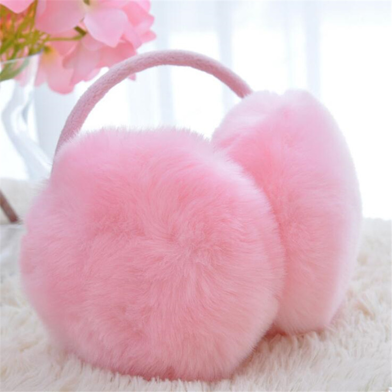 VIIANLES Warm Earmuff For Girls Ladies Winter Earmuffs Women Elegant Candy Colorful Plush Fluffy Cute Earlap Ear Hot Earmuffs