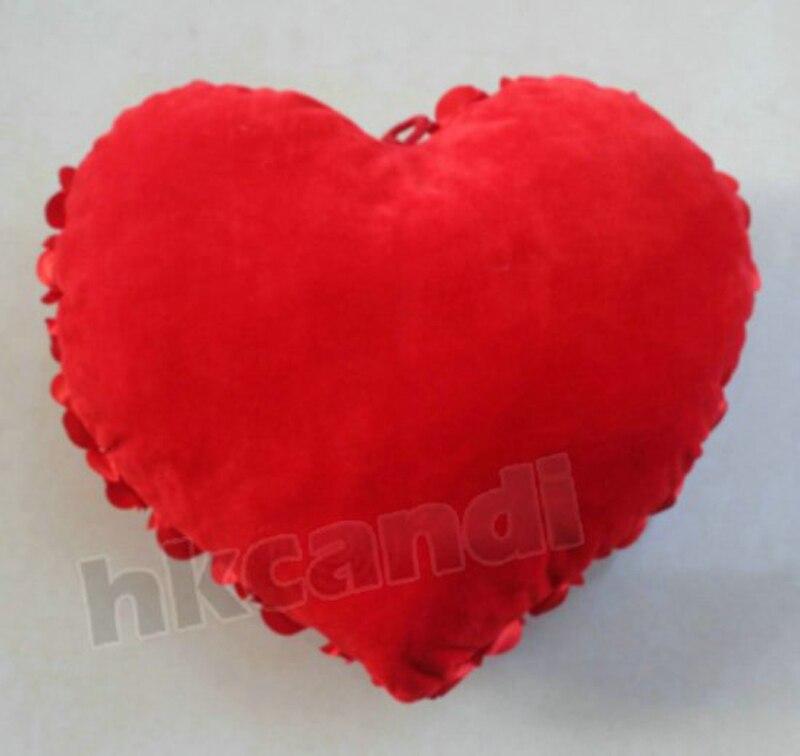Pillow Cushion Heart Shape Decorative Plush Throw Stuffed Chair Novelty Pillows