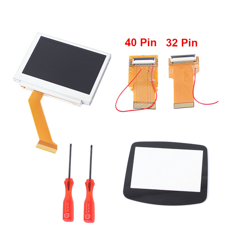 Game Accessories For Nintendo LCD Screen For GBA SP AGS 101 Highlight Screen LCD Backlit Brighter Flex Ribbon Cable+Glass Cover