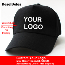 10pcs/lot High Quality DIY Your Own Cap Custom Logo Caps Women Men Snapback Blank Customized Hats Dad Printed 2019 New