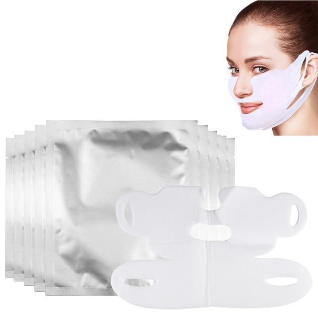 Miracle Lifting Facial Mask V Shape Face Slim Chin Check Neck Lift Eliminate Edema Firming Thin Whitening Pulling Mask Skin Care