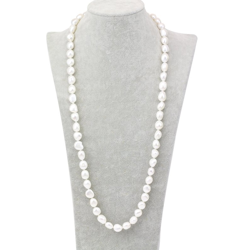 10-11mm White Color Freshwater Pearl Necklace,Baroque Pearl Jewellery,Charming Women Gift Wedding Birthday Party Jewelry10-11mm White Color Freshwater Pearl Necklace,Baroque Pearl Jewellery,Charming Women Gift Wedding Birthday Party Jewelry
