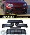 Aerodinamic parachoques delantero + DRL para Renault Duster 2010-2014 Plástico ABS Proteger parachoques Tuning Car Styling Accesorios de Moldeo