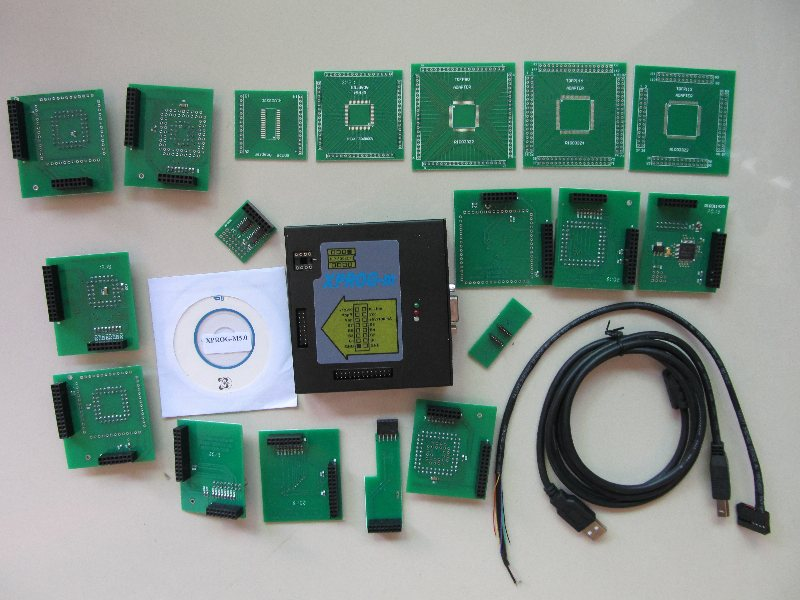 <font><b>xprog</b></font>-m 5.55 full <font><b>xprog</b></font>-m <font><b>v5.55</b></font> ECU chip tuning Programmer X-PROG box and cables full set image