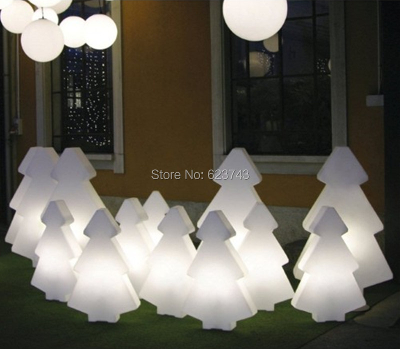 1 piece Christmas decoration glowing light outdoor/indoor colorful changeable rechargeable LED light tree of led floor lamp free shipping remote control colorful modern minimalist led pyramid light of decoration led night lamp for christmas gifts