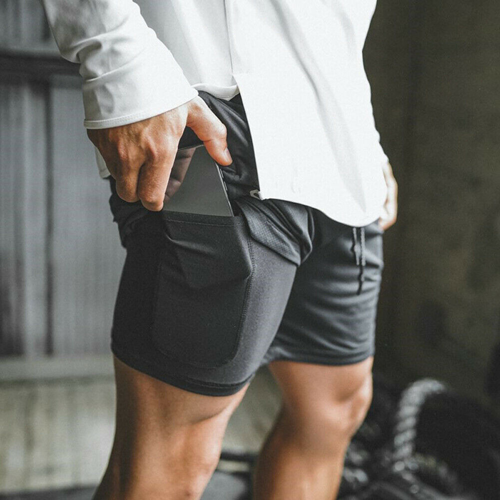 7 Colors Mens Breathable Shorts Gym Sports Running Short Pants Quick Drying Workout Bodybuilding  Gym Running Tight Shorts