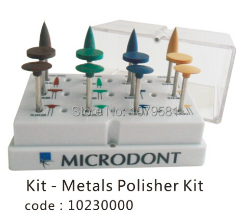 METAL POLISHER KIT FOR POLISHING METAL IN DENTAL IN ORAL HYGIENE dental kerr finishing polishing assorted kit occlubrush cup brushes