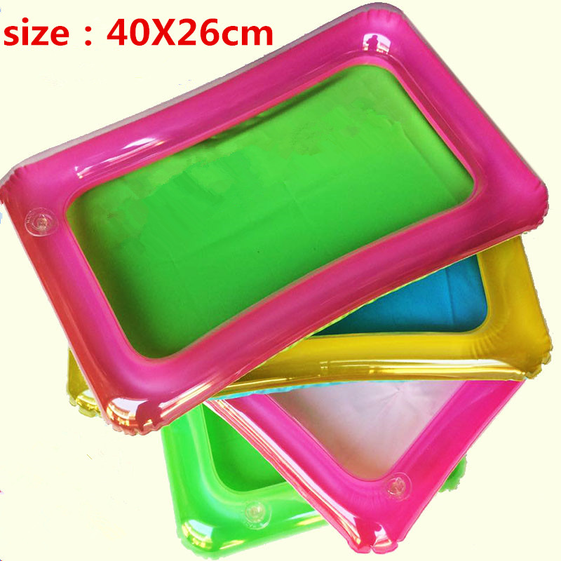 1pcs Indoor Magic Play Sand Children Toys Mars Space Inflatable Sand Tray Accessories Plastic Mobile Table